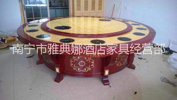南宁火锅餐桌/多层实木板电动餐桌/南宁餐桌椅批发/南京大理石桌价格