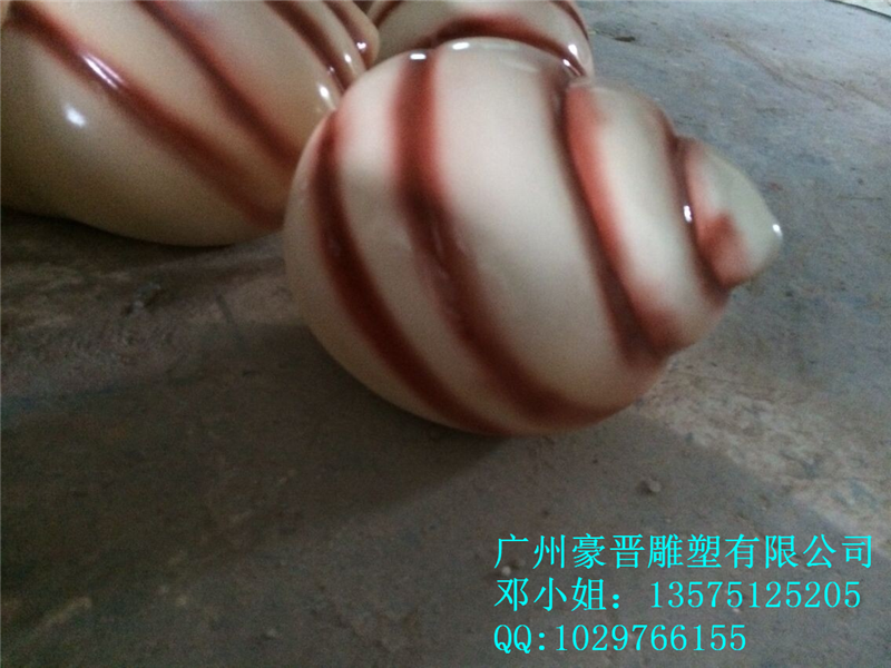 供应玻璃钢海螺彩绘树脂仿真田螺雕塑园林景观巨型螺雕塑摆件