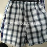 男式全棉格子沙滩裤图片