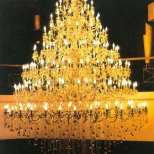 酒店别墅工程定制欧式水晶蜡烛吊灯图片