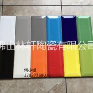 彩色墙砖纯色瓷片75*150斜边图片