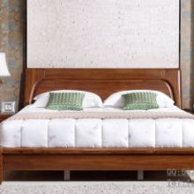 供应上海柚木家具品牌 柚木全实木双人床1.8米1.5米结婚床现代简约 特价批发