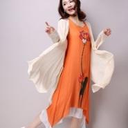 纯色披肩外套 民族风两件套连衣裙图片