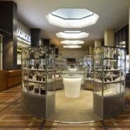 深圳展柜厂玻璃展示柜高档音像店图片