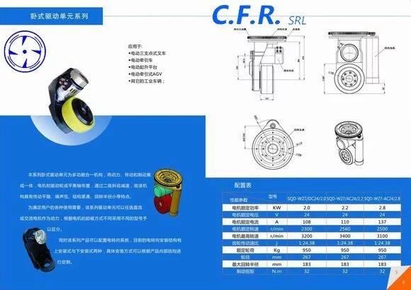 供应用于AGV小车的驱动器  万向驱动轮意大利CFR