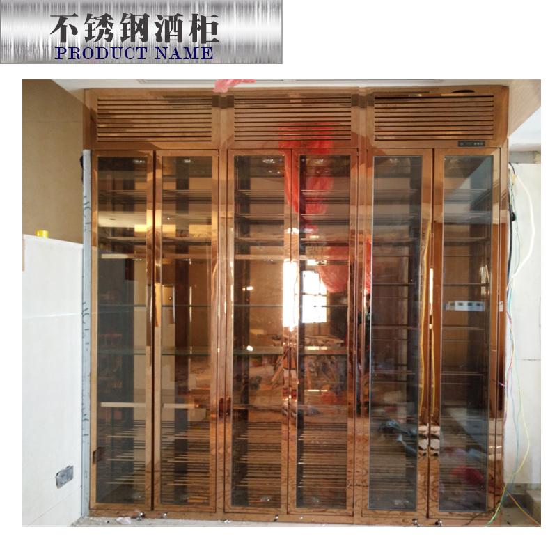供应不锈钢酒柜图片 不锈钢酒柜订制 酒架生产厂家 不锈钢酒架