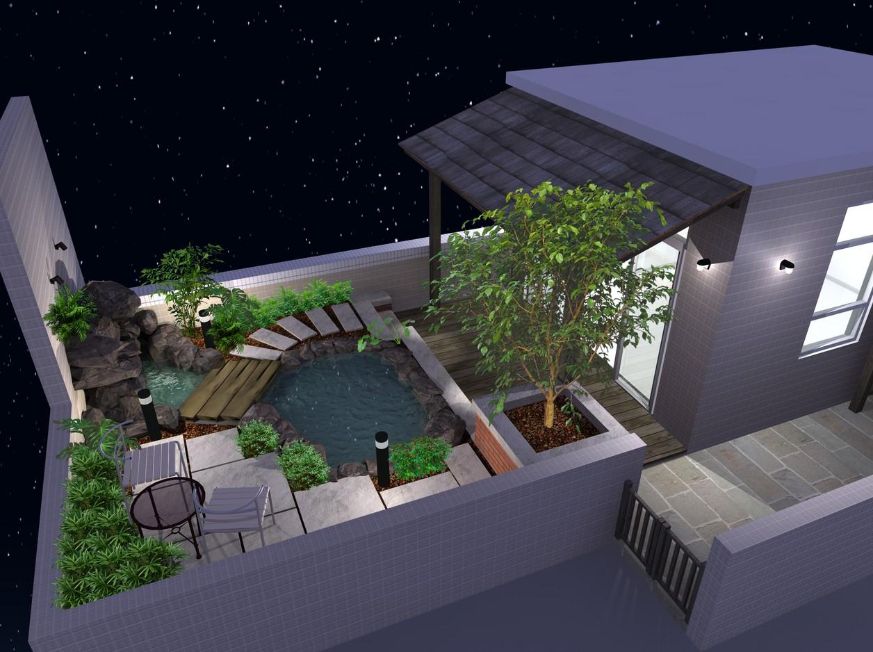 石山鱼池设计构思                          阳台