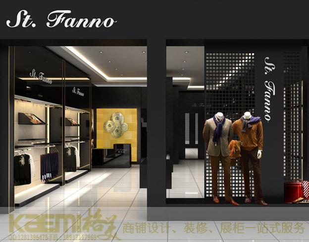 供应用于商业展柜|服装展柜的郑州服装展示柜设计定制,选材环保