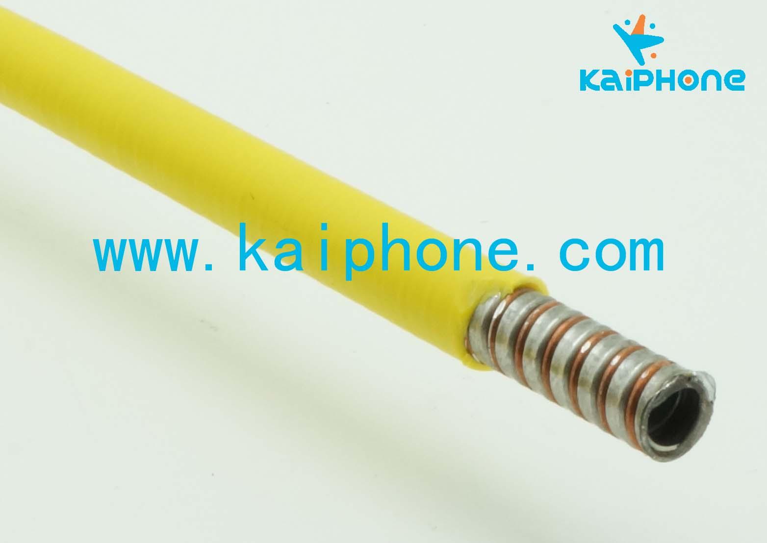 供应光纤激光器保护软管 隔离器用 黄色外6mm加绕线铠装软能量光纤 光纤激光器专用 绿色双扣包塑不锈钢软管