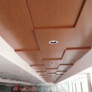 广汽本田4s店木纹铝单板吊顶图片