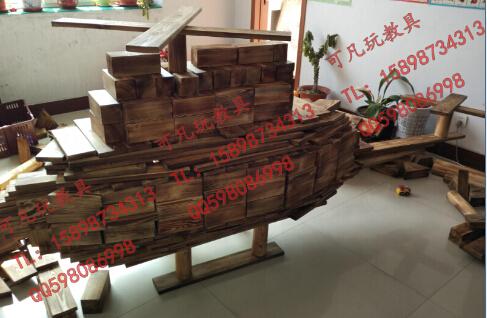 幼儿园户外大型碳化防腐优质积木图片大全