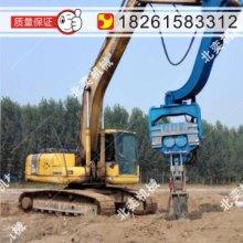 供应建筑地基打桩机挖掘机改装打桩机 8米混凝土预制桩高频液压打拔桩机高频液压振动锤图片