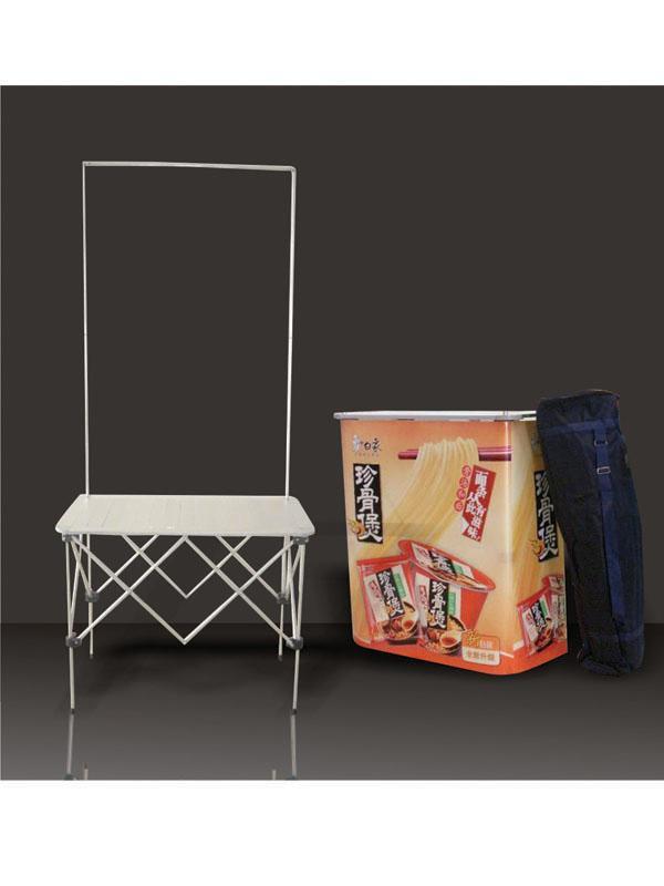 东莞厂家供应全铝拉网促销台    商场促销展示桌