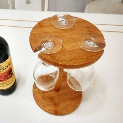 红酒杯竹木架销售