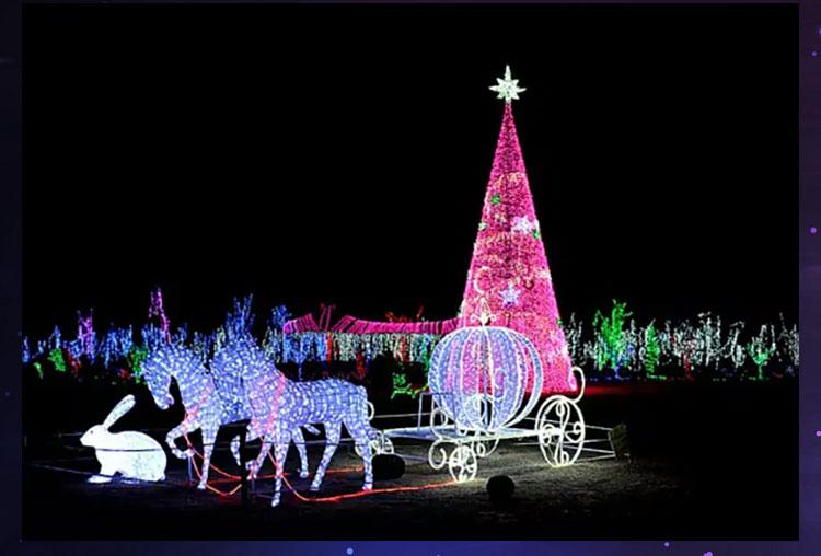 厂价直销LED 姹紫嫣红造型灯中山横栏鑫艺灯饰供应LED圣诞树 姹紫嫣红造型灯