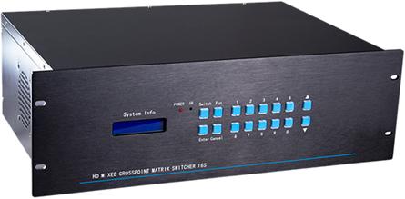 MHD系列高清混合矩阵切换器 无缝矩阵切换器方案 高清HDMI矩阵报价 矩阵切换器厂家 清混合矩阵切换器 插卡混合矩阵