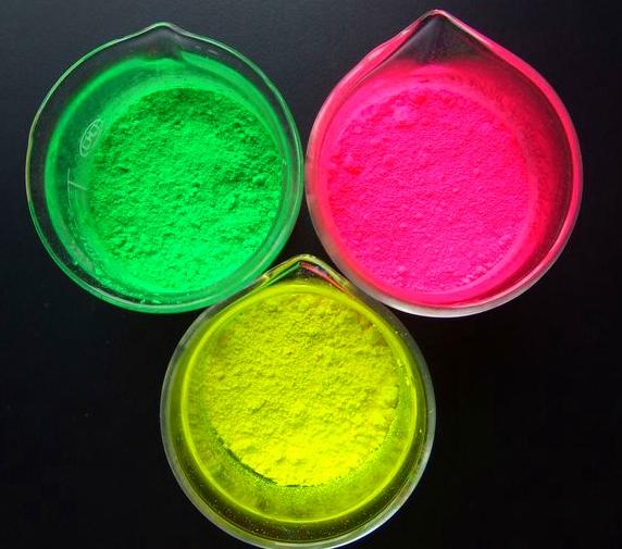 供应用于硅胶、荧光颜料,荧光色母,荧光粉