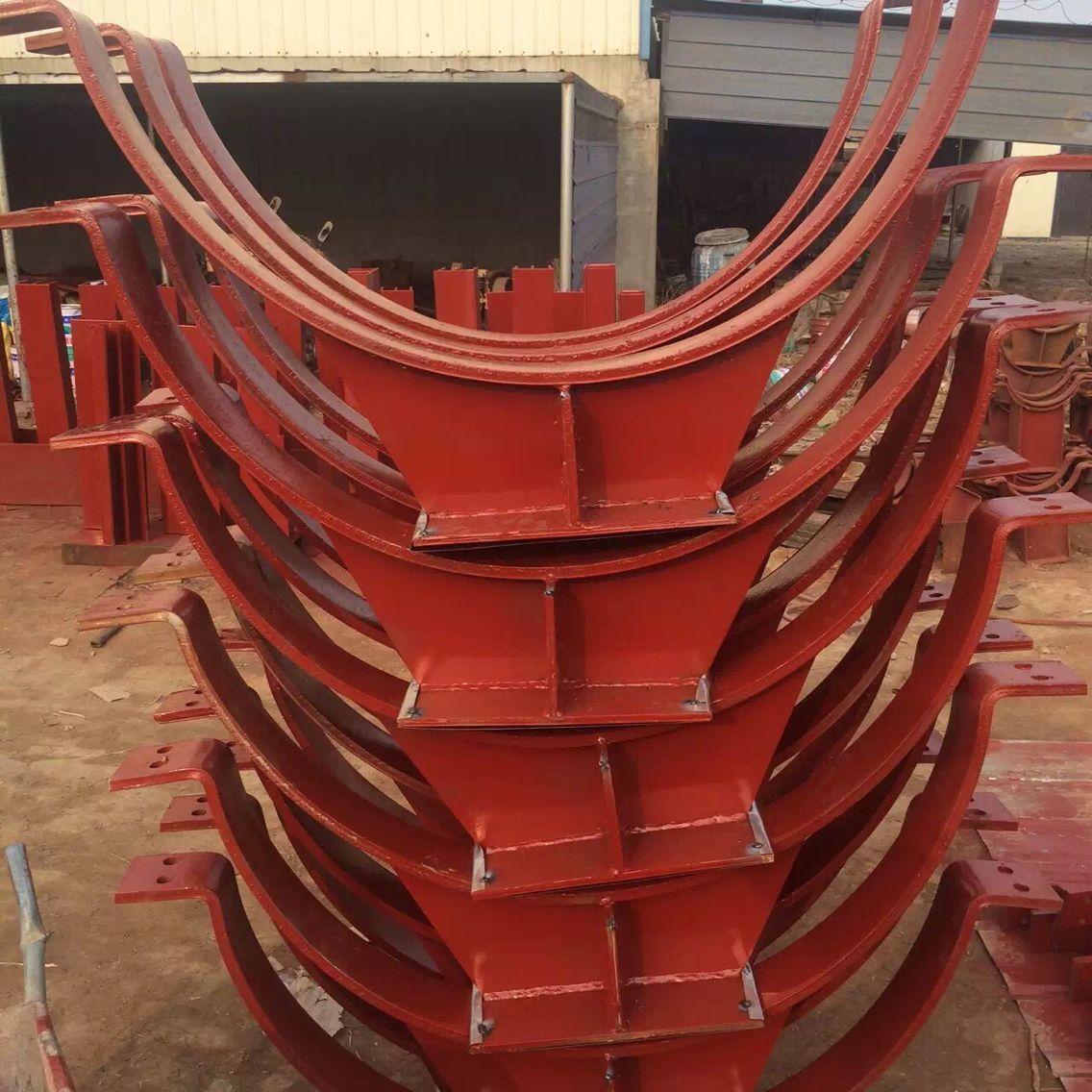 供应用于烟风道的G43梁侧倒三角架 烟风煤粉管道支吊架 左右螺纹拉杆 焊接横担 弹簧支吊架厂家