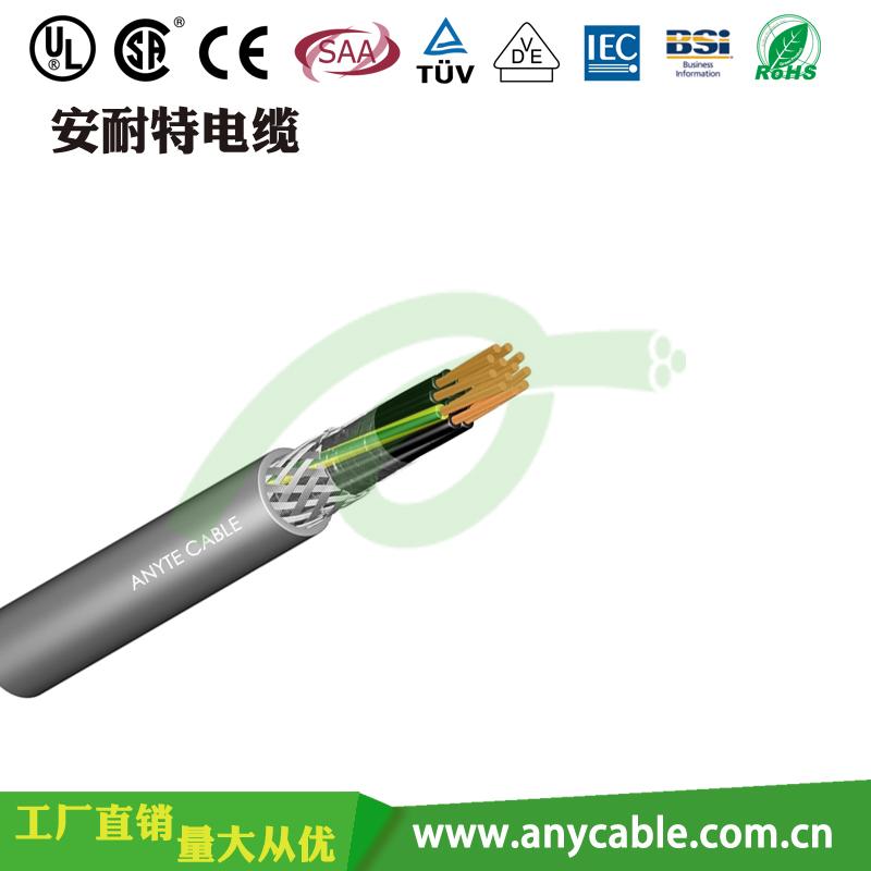交联屏蔽控制电缆 聚氯乙烯护套绝缘电线 CE认证柔性电缆