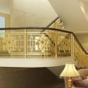 天津铝艺雕刻楼梯护栏定制图片