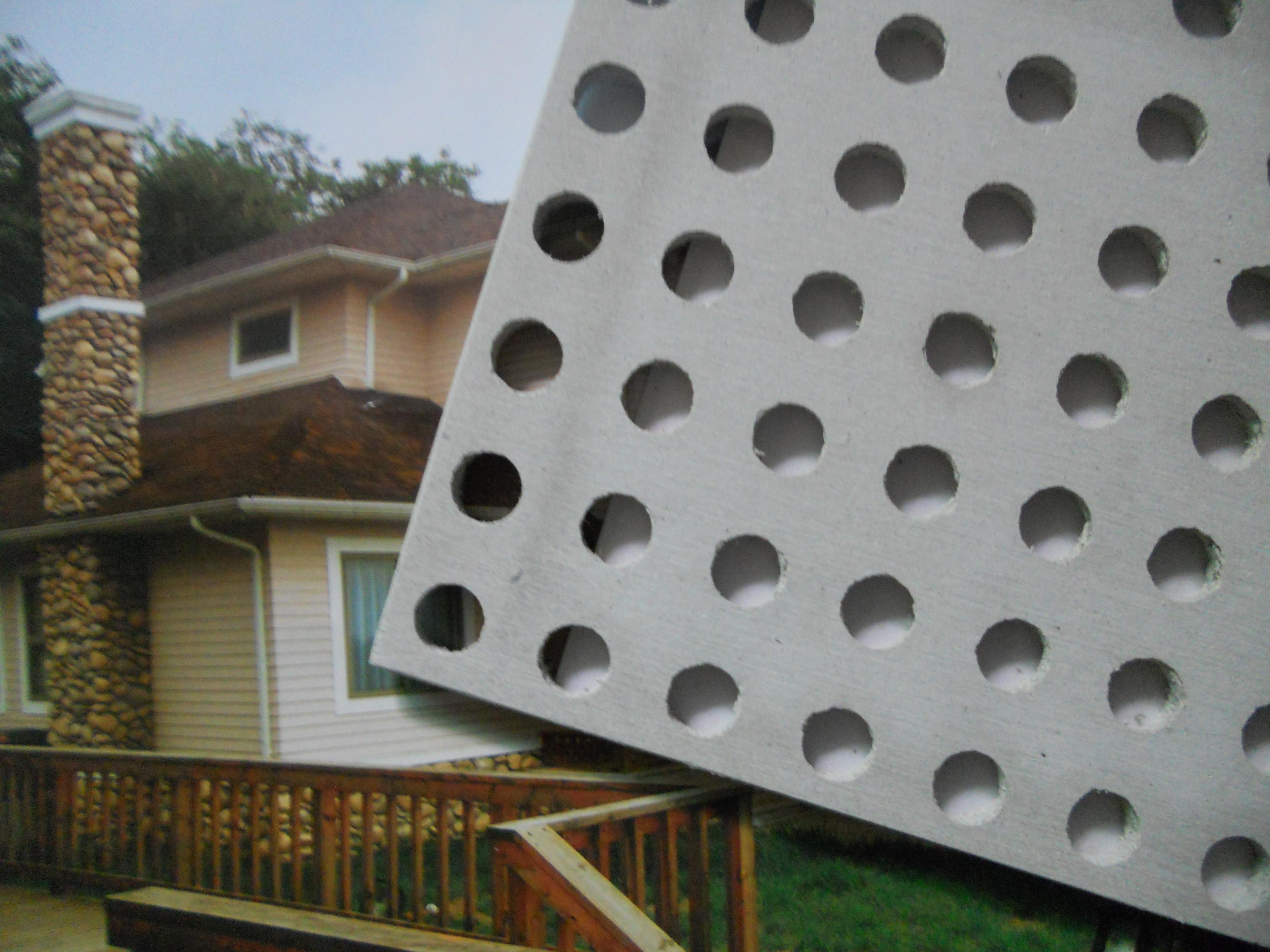 穿孔石膏板 穿孔吸音板 石膏吸音板 石膏穿孔板