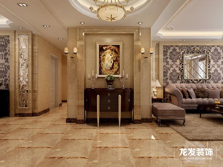 郑州龙发装饰天骄华庭200平方四室三厅装修效果图