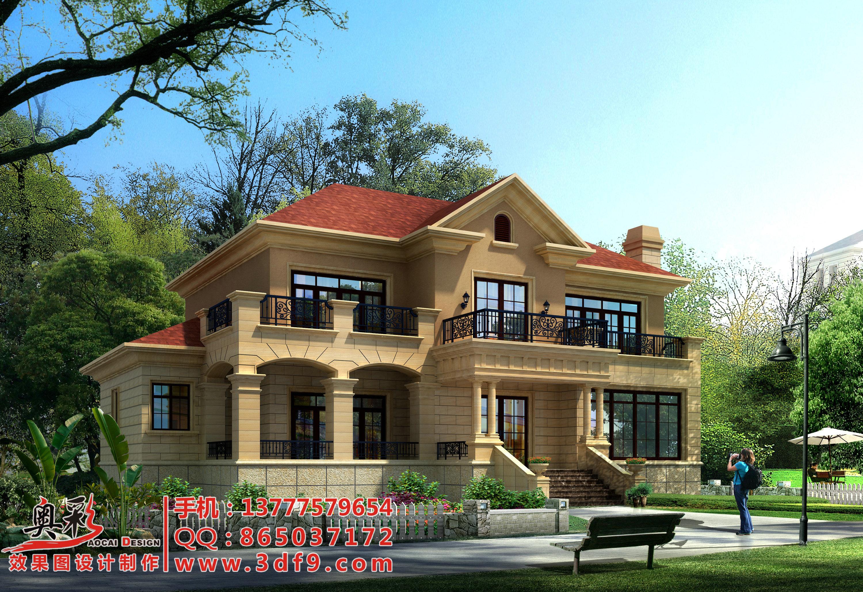 别墅外墙瓷砖装修效果图设计
