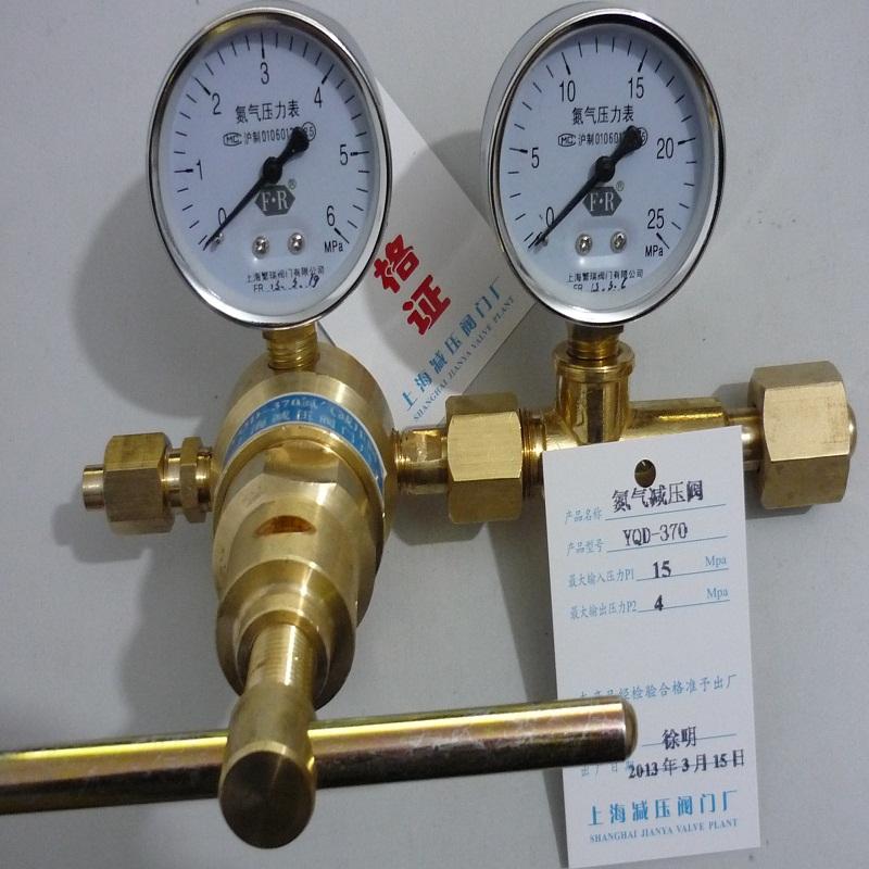 氮气减压阀YQD-370氮气表 YQD370 氮气减压器 YQD氮气减压表上海减压阀门厂专业销售各类氮气减压表