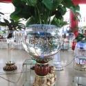 LED灯水族生态鱼缸摆件陶瓷底座图片