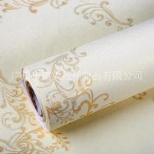 欧式卷草纹墙纸 加厚 PVC 防水卧室客厅壁纸批发