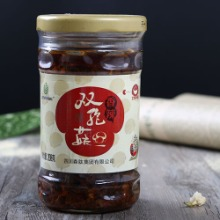 四川味道香辣调味品-下饭菜 香辣双孢菇  工厂直销酱品批发 罐装酱