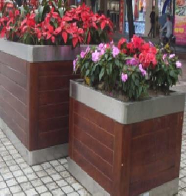 钢木组合花箱 大型道路花槽图片/钢木组合花箱 大型道路花槽样板图 (3)