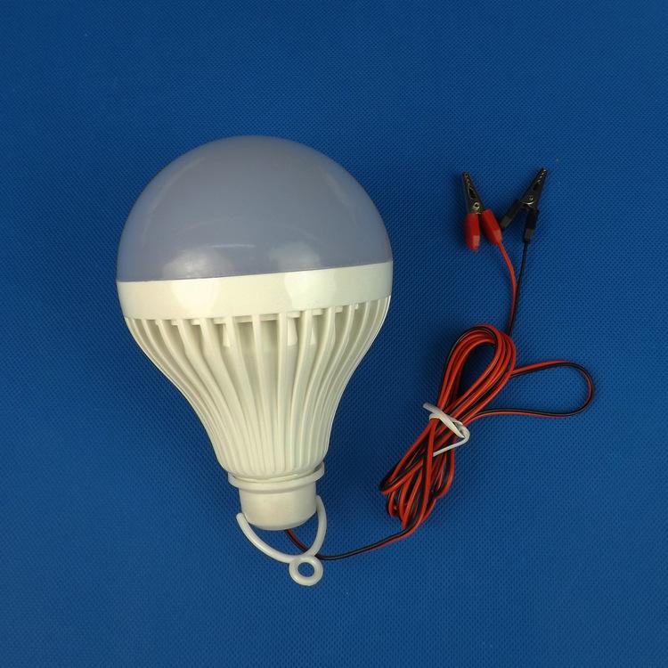 12v低压led塑料球泡灯 应急夜市地摊LED照明球泡灯12W 厂家直销