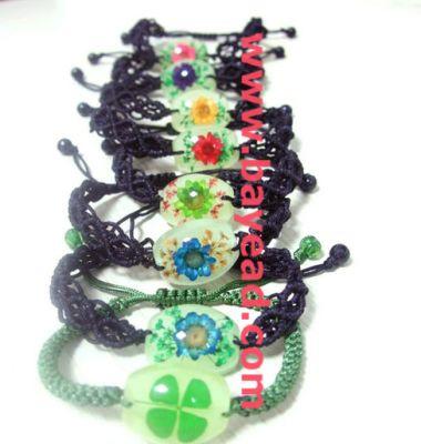花琥珀手链图片/花琥珀手链样板图 (1)