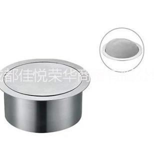 不锈钢垃圾桶 厨房台面嵌入垃圾箱 圆形按压式垃圾收纳桶 特价包邮