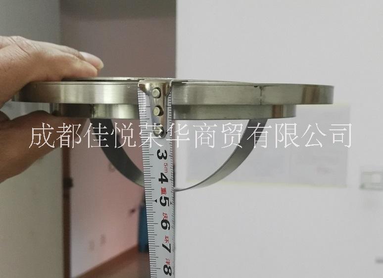 嵌入式垃圾桶台面圆形不锈钢清洁筒304摇盖收集桶