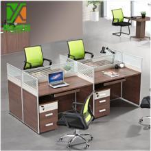 简约屏风办公桌 广州家具厂家直销  屏风工作位 职员屏风工作桌4人 可定做图片