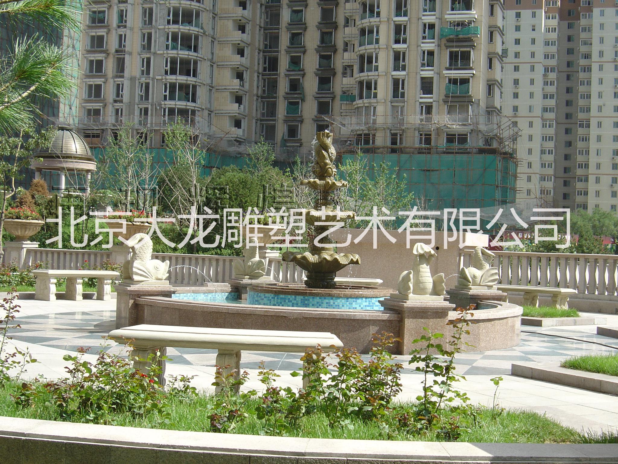 人造砂岩雕塑喷泉景观雕塑报价