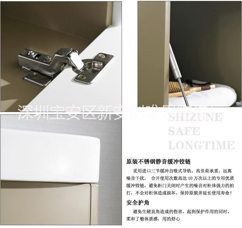 卫浴柜现代简约实木浴室柜卫生间洗手洗脸盆柜镜柜台