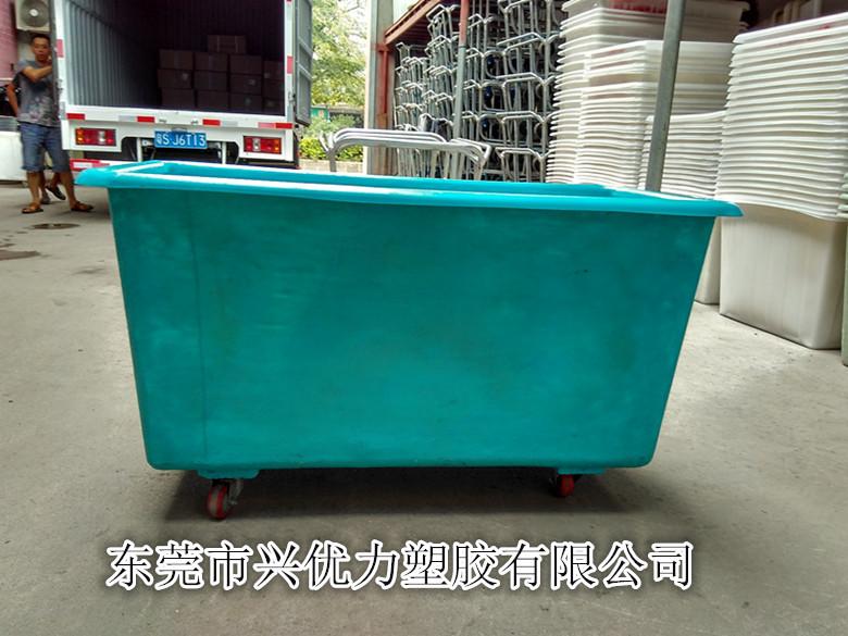 供应玻璃钢方桶印染方桶玻璃钢周转车