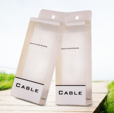 USB手机数据线包装盒 安卓小米数据线包装盒 PVC包装盒批发可订制 供应手机数据线包装盒