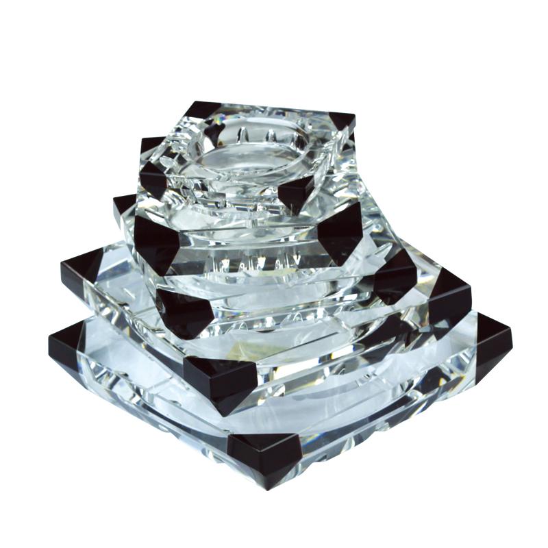 广东酒店高档水晶烟灰缸生产批发 会议室水晶烟灰缸摆件 高档酒店烟灰缸 KTV烟灰缸