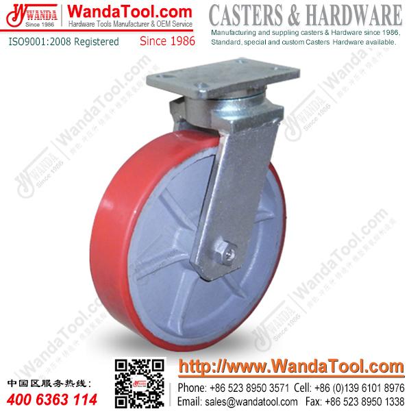 重型万向轮脚轮 12英寸重型万向轮脚轮 承重1.6吨万向轮