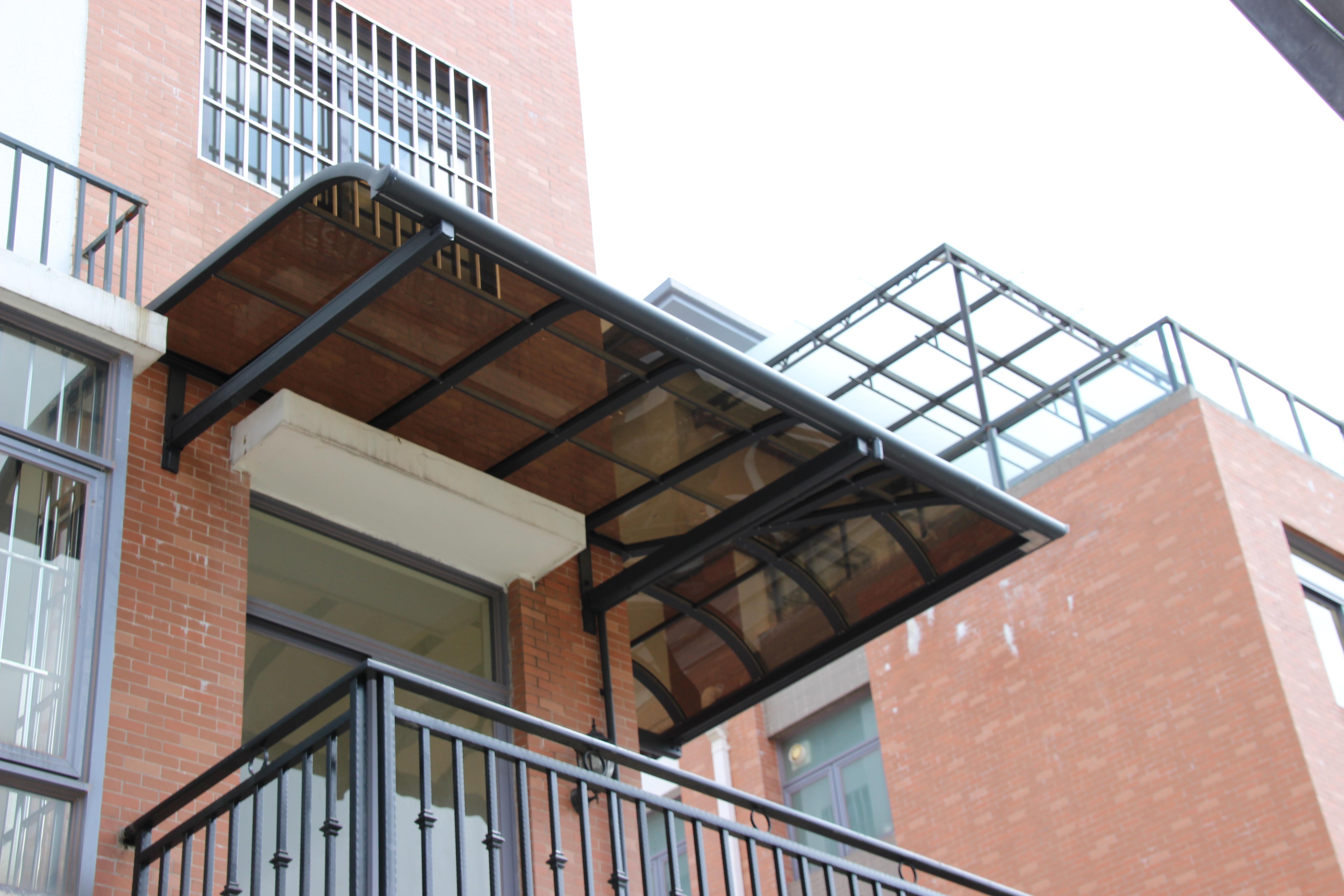 别墅阳光棚遮阳棚 雨棚 露台棚 窗棚 别墅阳光棚 铝合金窗棚 遮阳棚