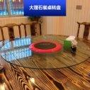 大理石餐桌转盘 简欧田园纯实木雕刻餐台圆形转盘组合厂家直销