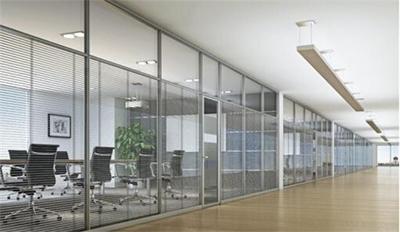 100型双玻百叶高间隔 广州办公室装修 玻璃隔断 公司