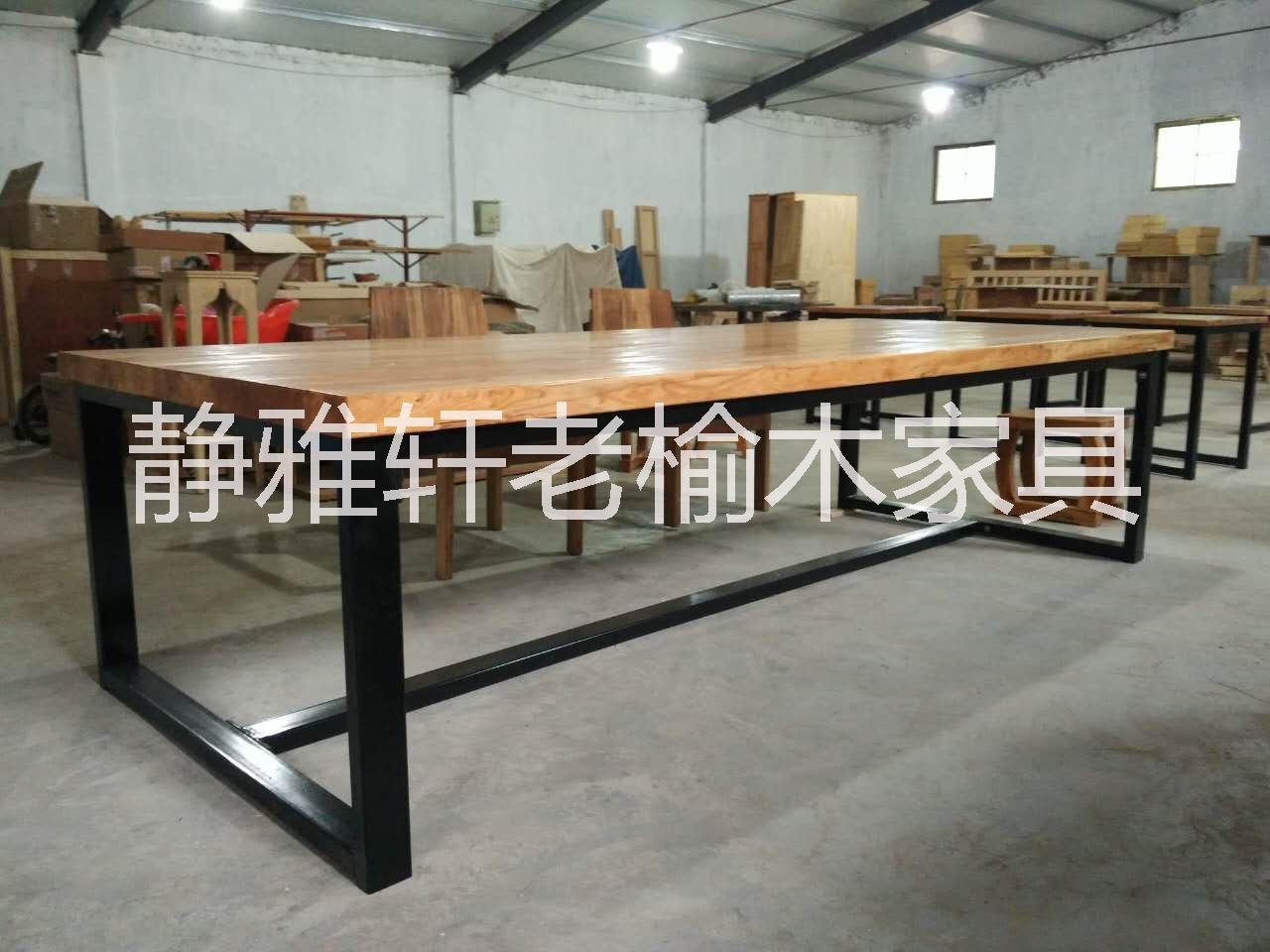 原木木板材复古老榆木桌面实木板吧台工作台装饰板材LOFT批发定制 老原木原木木板材复古桌面实木板