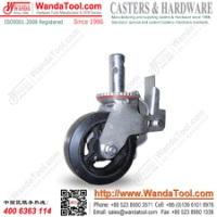 6寸脚手架脚轮,铁芯橡胶脚手架脚轮,标准脚手架脚轮