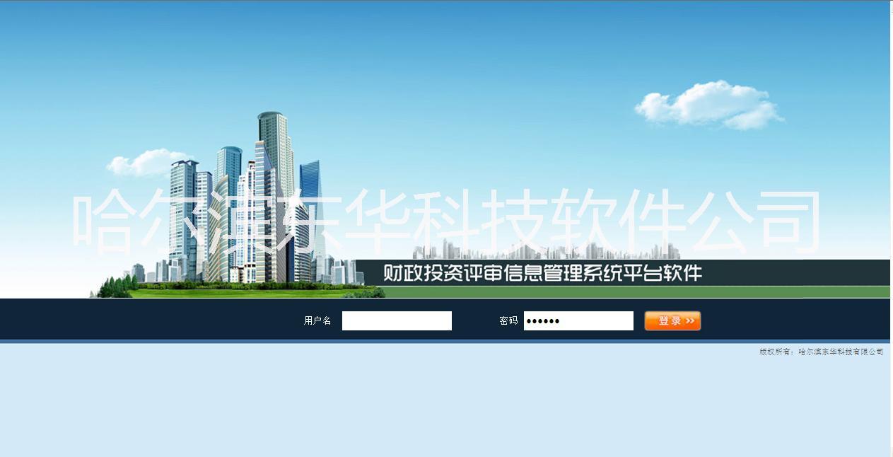 东华财政投资评审软件图片