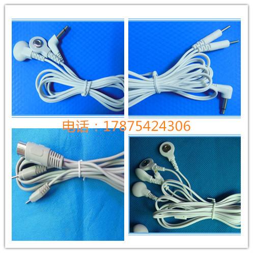 电极线厂家直销 插针连接线 治疗仪导线  扣式安规电极线 电极线  插针连接线